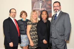Matt Ghio, Laurie Swartz, Jean Larso Steck, Monica McFee, Andrew Weil (Executive Director, Landmarks Association of St. Louis)