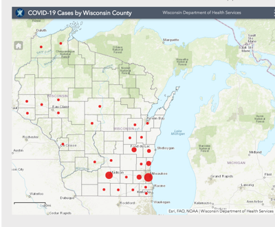 COVID-19 cases as of Saturday, March 21