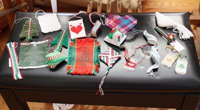 Woven Fiber Christmas Ornaments