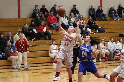 Falcon girls down Trojans on Cancer Benefit night