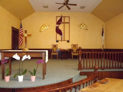 The altar of the Union United Methodist Church. The church was built in 1895