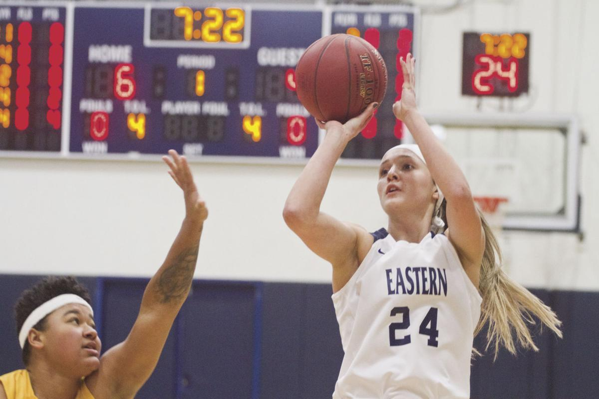 Select sports photos of 2020 — Eastern Oregon University's Beverly Slater shoots