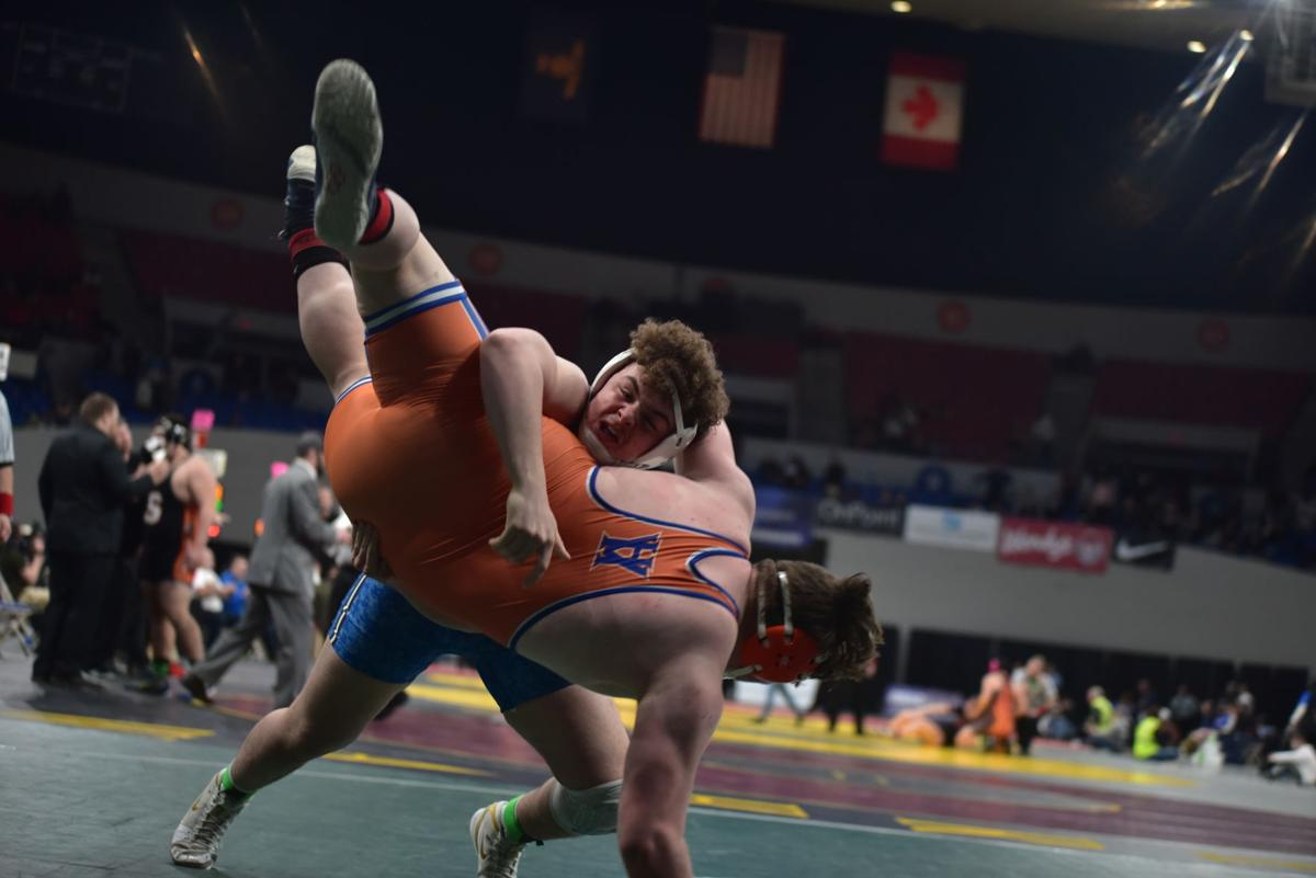 Select sports photos of 2020 — La Grande High's Gabe Shukle makes his move