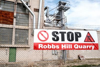 Stop Robbs Hill Quarry Sign