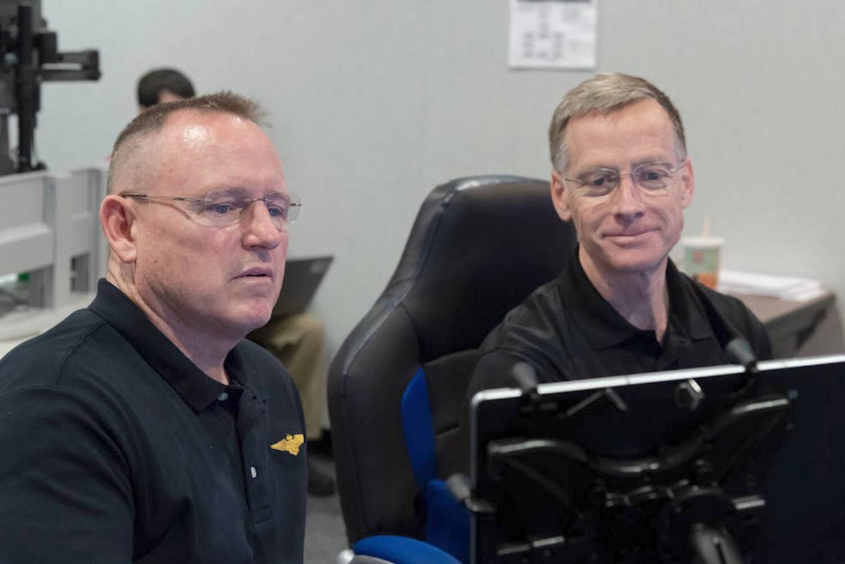 Astronauts Butch Wilmoreand Chris Ferguson.jpg