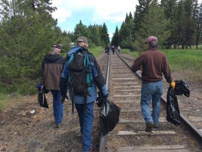 Joseph Branch Trail supporters clean up area