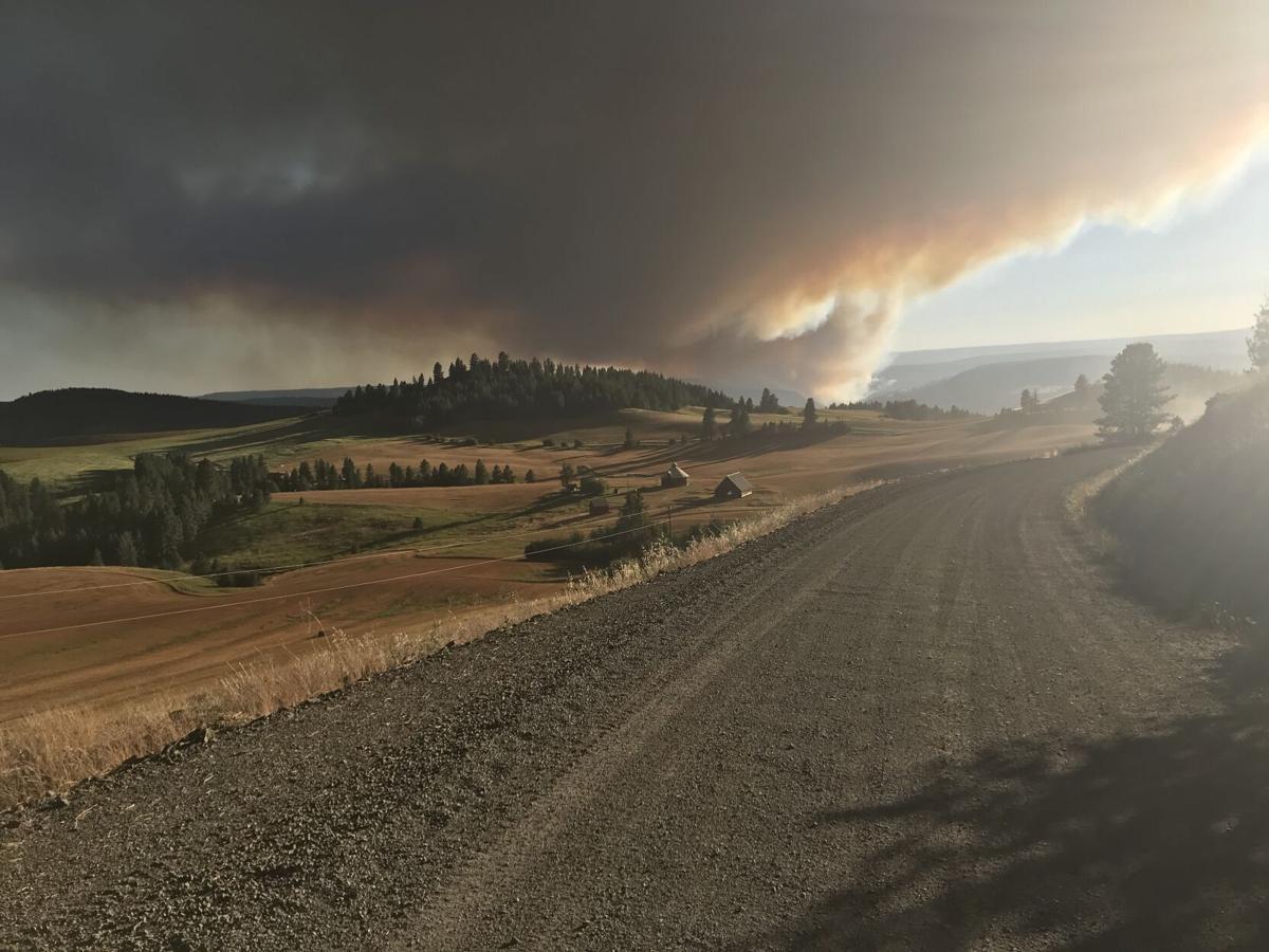 Elbow Creek Fire smoke July 15, 2021
