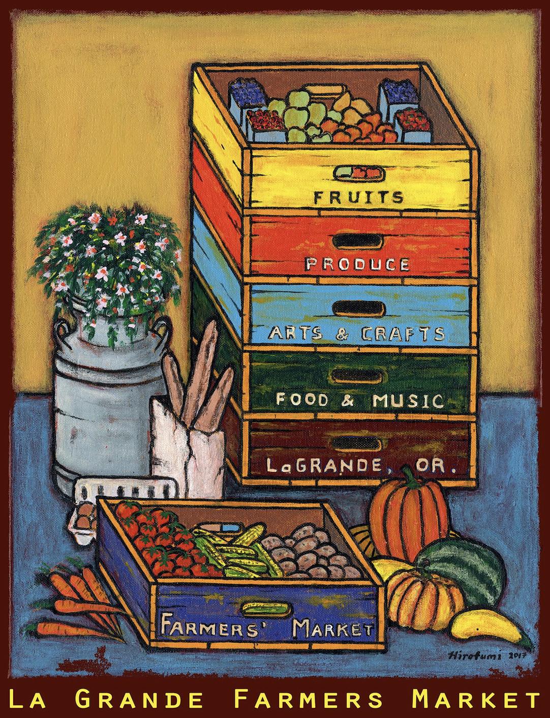 LG Farmers Market 2018 poster art