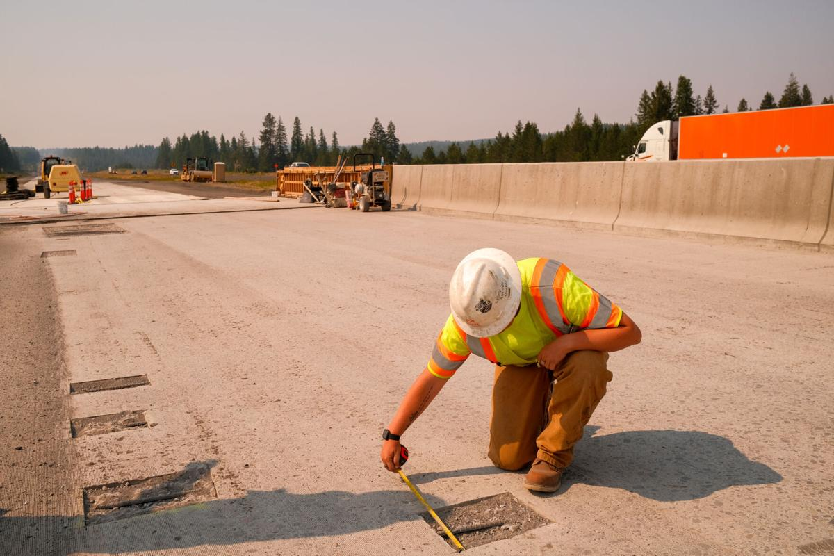 Knife River Corp. I-84 road work 1