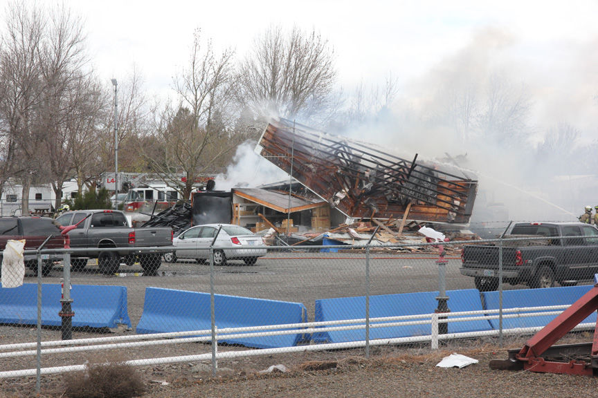 Fire, explosions destroy business storage facility