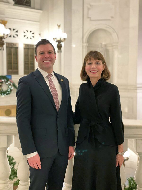 Rep. Ryan Mackenzie, left, and his mother Milou Mackenzie.jpeg