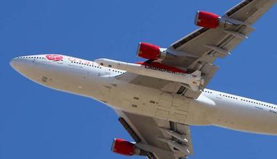 Virgin Orbit Boeing 747-400 rocket launch platform Cosmic Girl.jpg