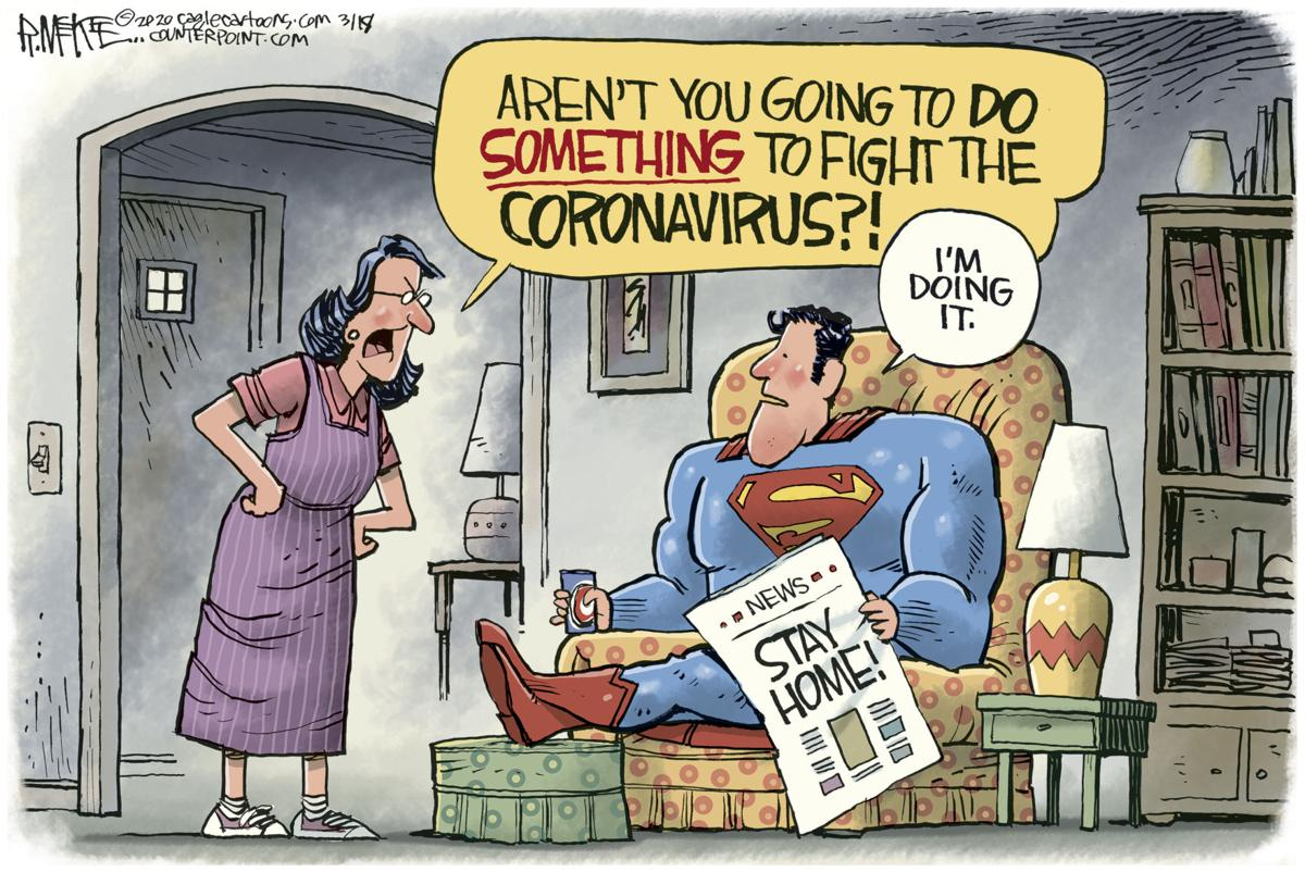 Superman Fights Coronavirus | Editorial Cartoons ...
