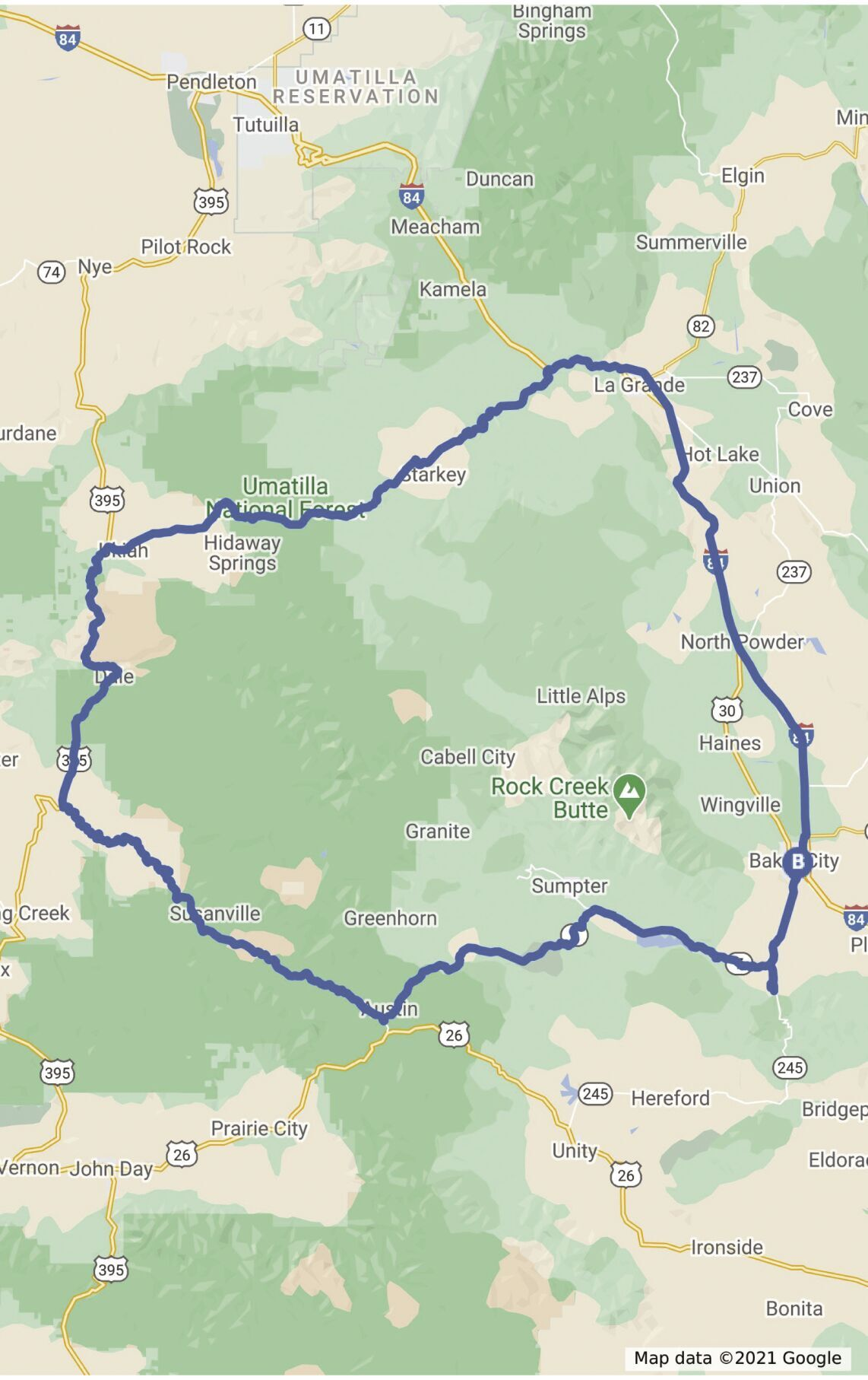 Driving tour map