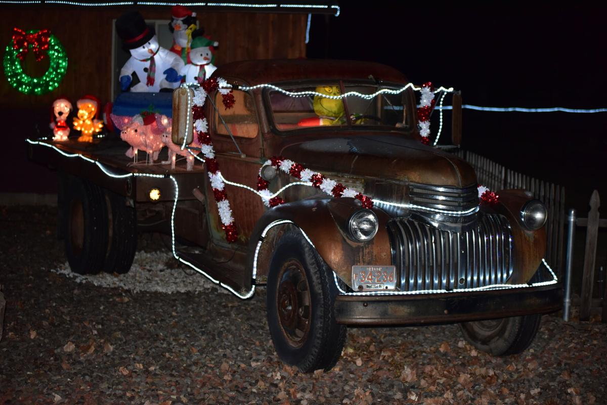 Faulk holiday decorations contest winner 2020 - Chevy truck
