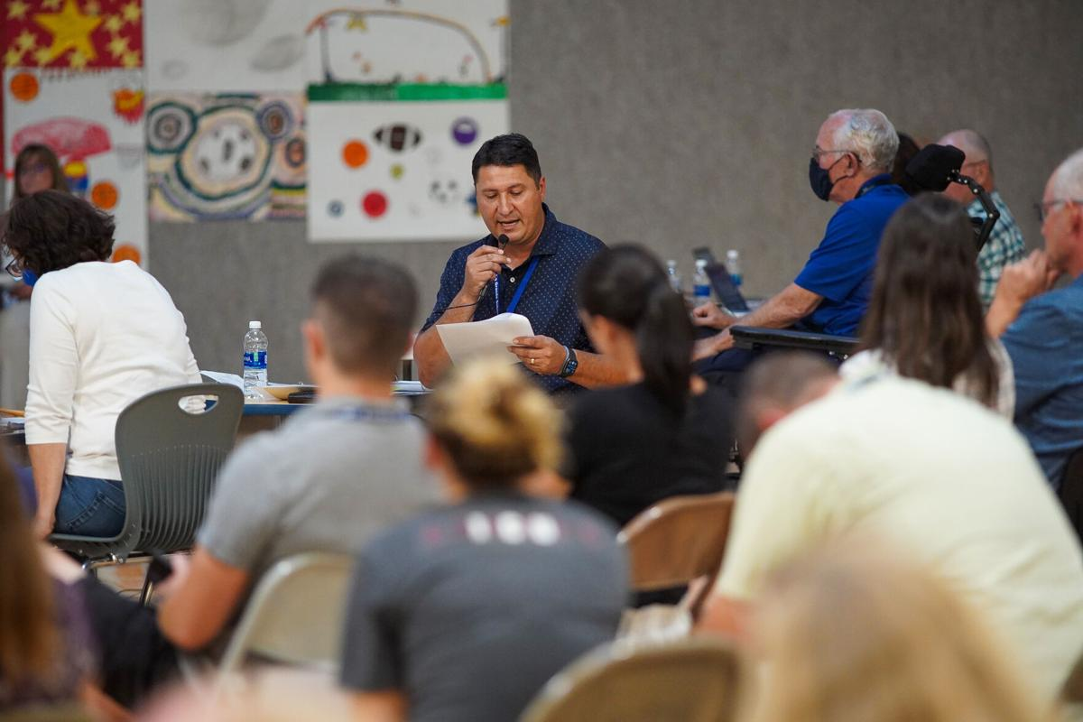 Opponents of mask mandates speak out at school board meeting