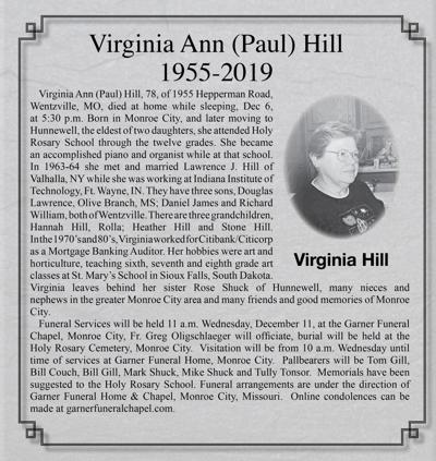 Virginia Ann (Paul) Hill Keepsake