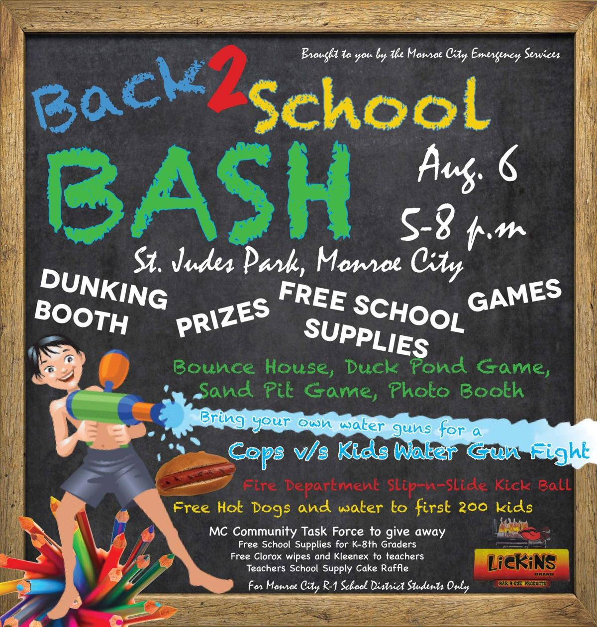 Back to School Bash to provide a fun evening for district
