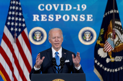Biden speaks in the South Court Auditorium