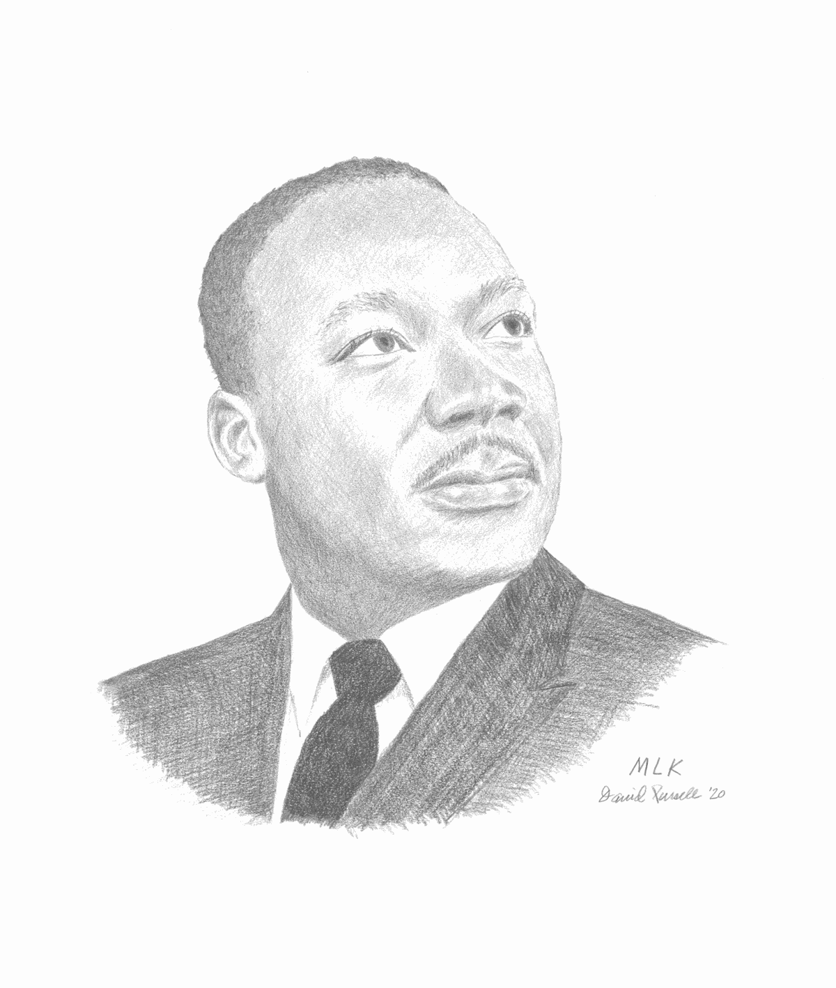 Rev.Martin Luther King. Jr. Pencil Drawing by David Pursell.jpg