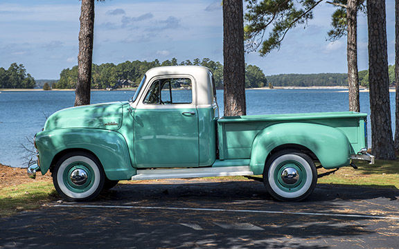 Campbell's 1954 Chevy pickup truck