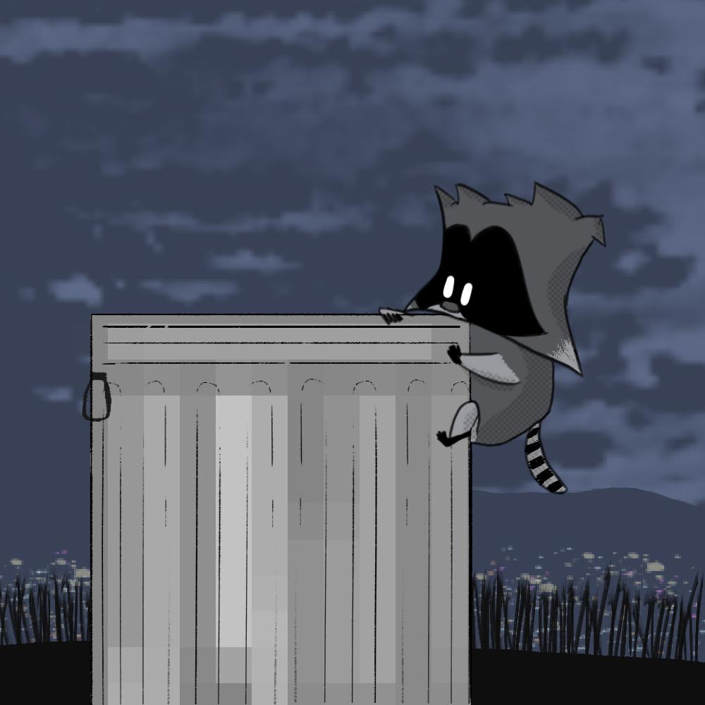 Rubin Trashcan Cartoon