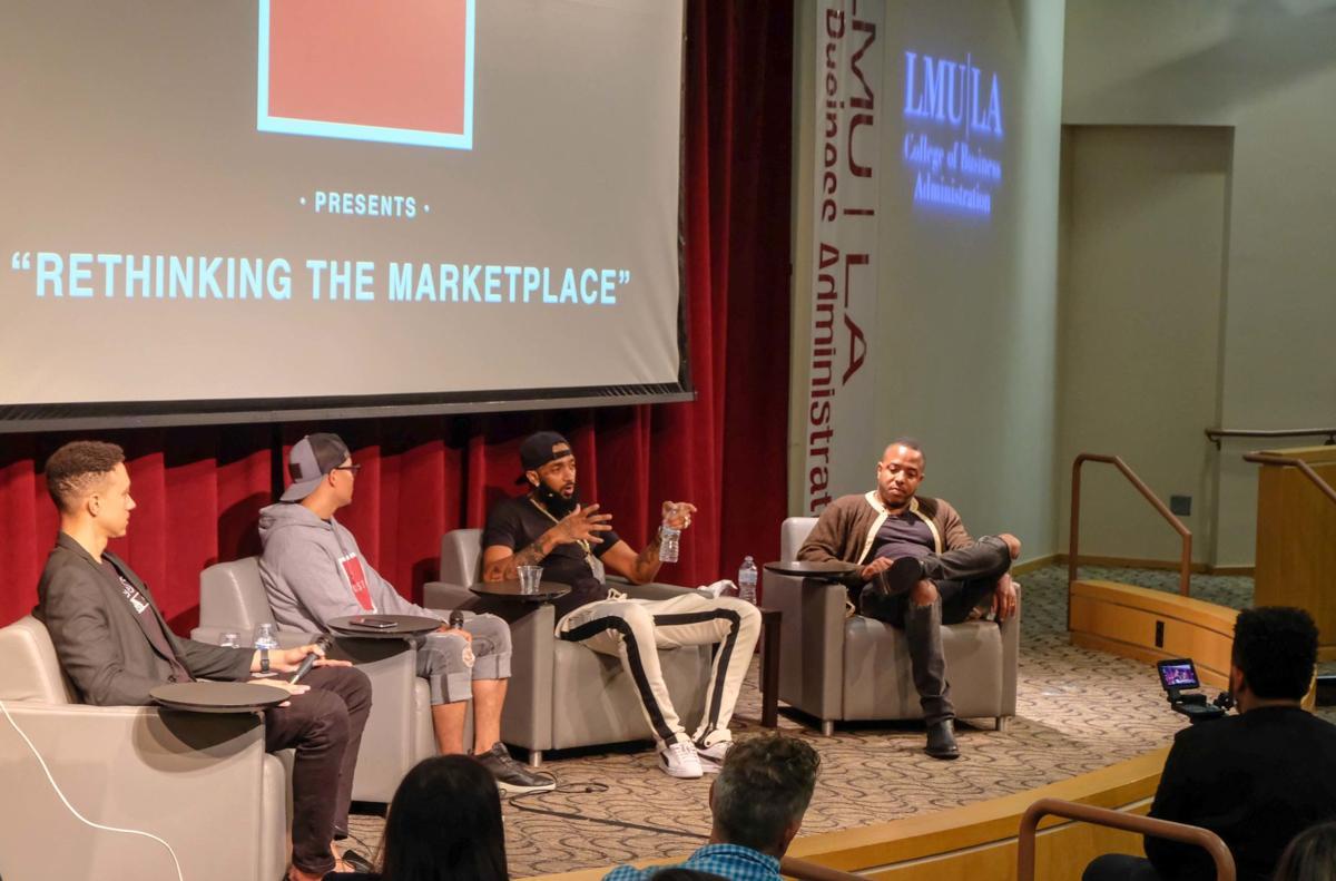 L.A. rapper Nipsey Hussle and real estate developer David Gross
