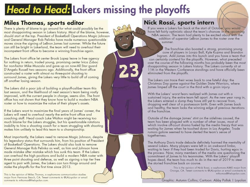 Head to Head: Lakers missing the playoffs | Basketball