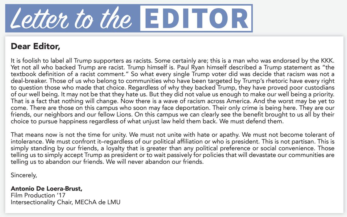 Letter to the editor Letters To The Editor
