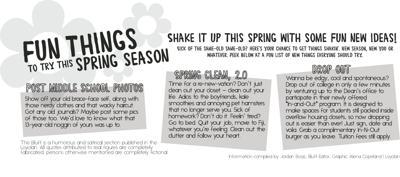 Fun things to try this spring season