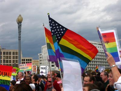 LGBT protestors