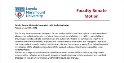 Faculty Senate Motion