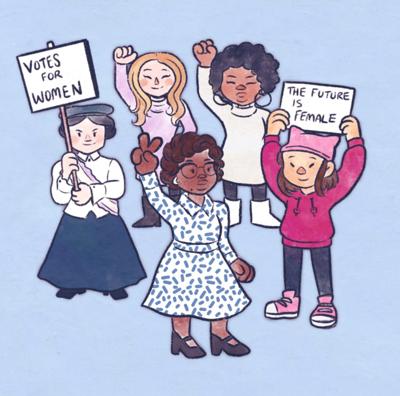 The feminist dresscode; female leaders dress to win, Cartoon