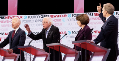 Democratic debate photo