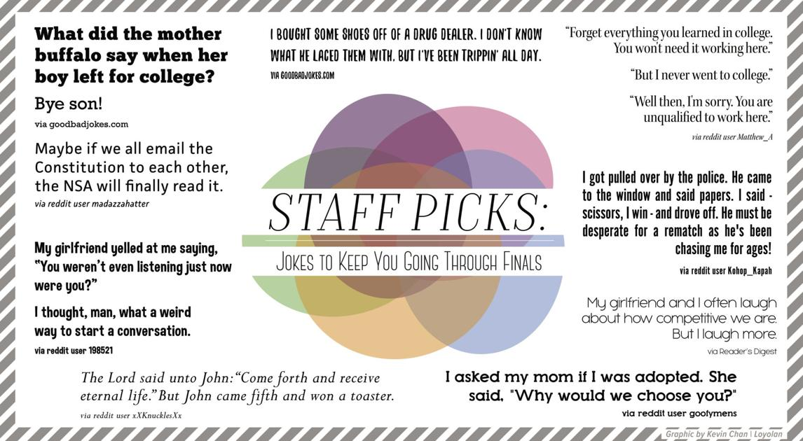 Staff Picks: Jokes to keep you going through finals | Arts And