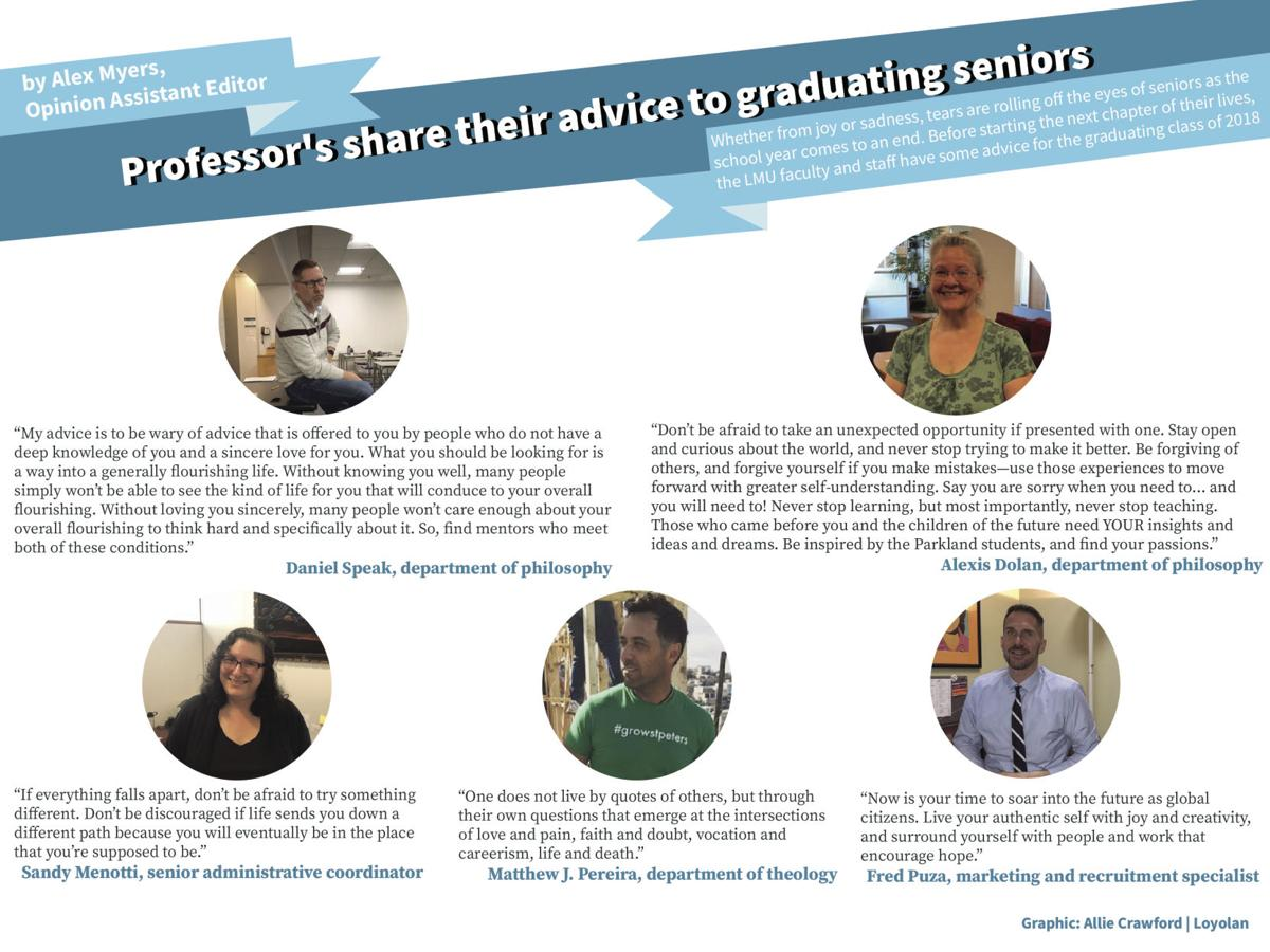 Staff and faculty share their advice to graduating seniors