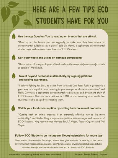 Eco Student Tips Graphic