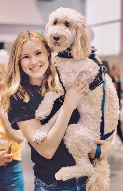 catherine dauw and her dog.jpg