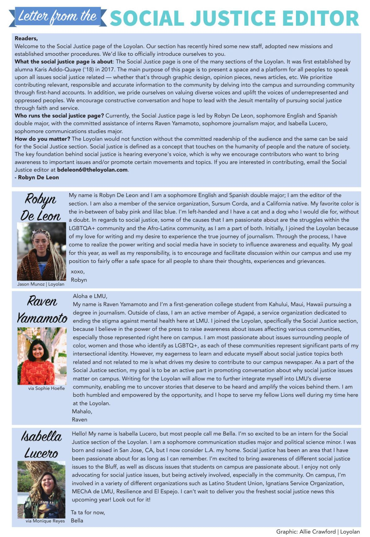 letter from the editor  social justice introduction