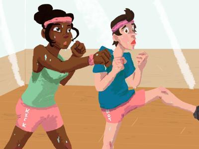 Divas at the gym