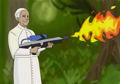 """Campus Jesuits donate to Pope Francis's """"Fire with Fire"""" campaign"""