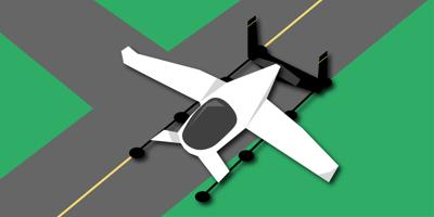 Projected appearance of a flying taxi