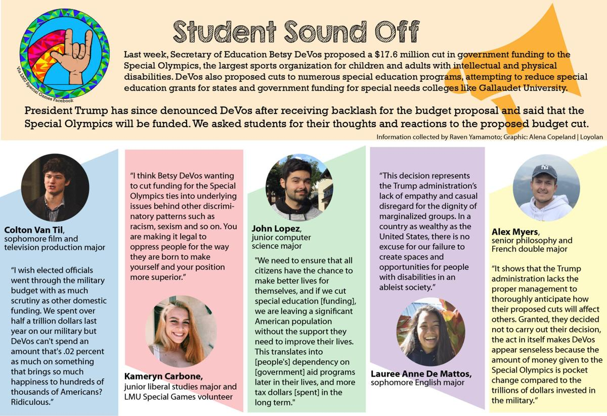 Lack Of College Disability Information >> Student Sound Off Special Olympics Budget Cut Social Justice