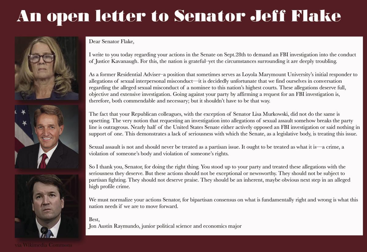 an open letter to senator jeff flake opinion laloyolancom