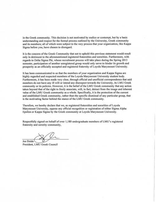 letter from greek community to sae, page 2 | news | laloyolan