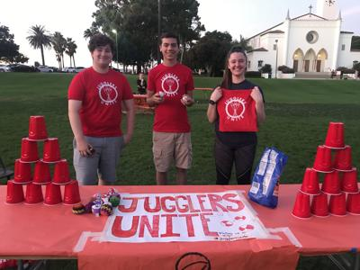 Juggler's Unite at LMU's Fright Night in 2019