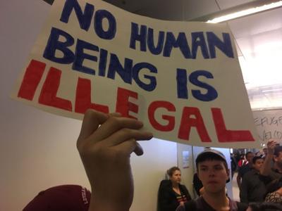 Deportations protest