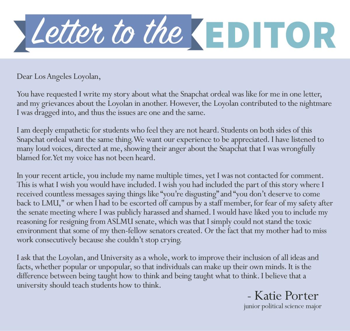 how to end a letter to the editor