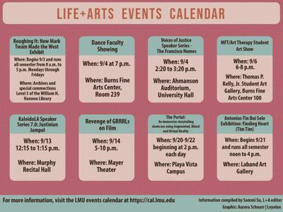 Life+Arts Events Calendar