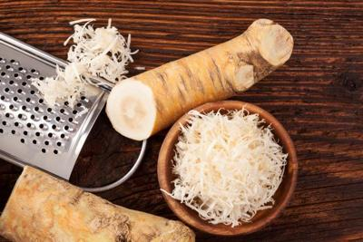 Fresh grated Horseradish roots